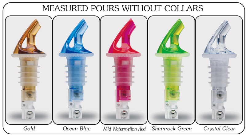 Precision Pour 3 Ball Liquor Pourers - Without Collars